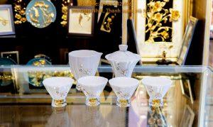 bộ ly trà sứ